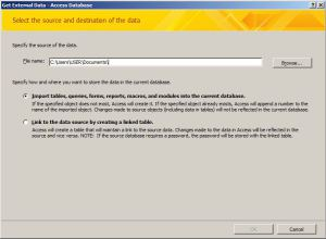 Get External Access Database