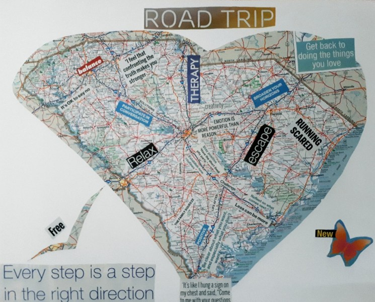 Personal Road Map  Finding My Way Through Change     Recovery Art Studio