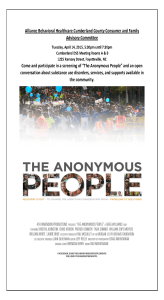 Cumberland CFAC Showing Anonymous People 4-14-15