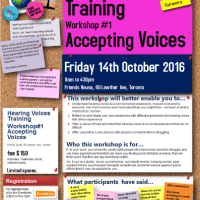 Hearing Voices Training - Workshop #1: Accepting Voices - Fri 14th Oct 2016