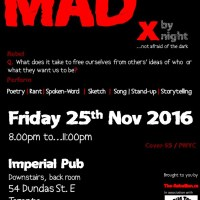 Open Call for rebel-performers: MADx, Fri 25th Nov 2016
