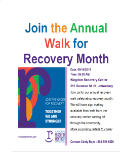 Annual Walk for Recovery Month