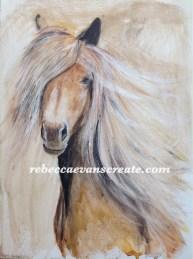 Home made claybord, A3 watercolour'Hettie'