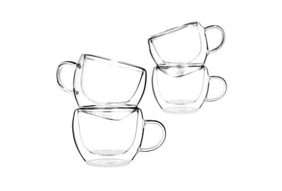 universe double wall glasses set of 4