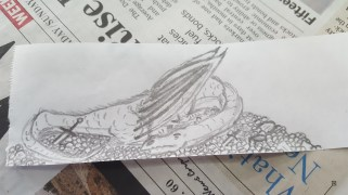 Dragon sleeping atop its hoard.