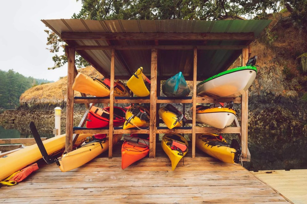 kayak storage shed