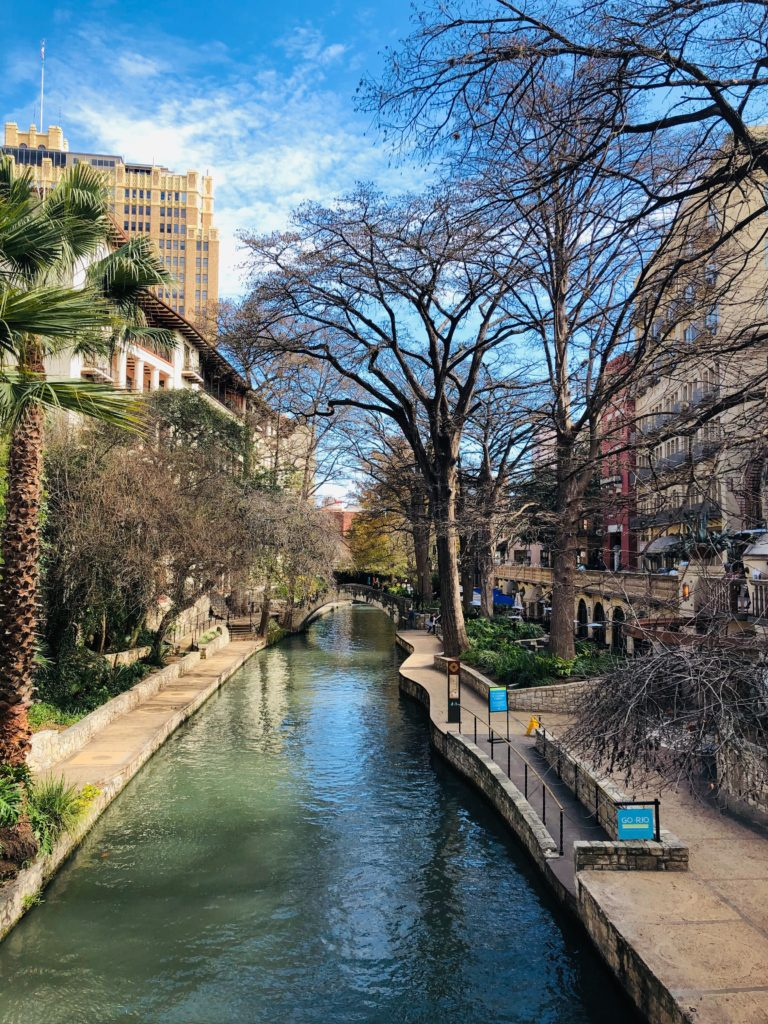 The San Antonio Riverwalk one of the best RV destinations in December if you want warm temperatures.