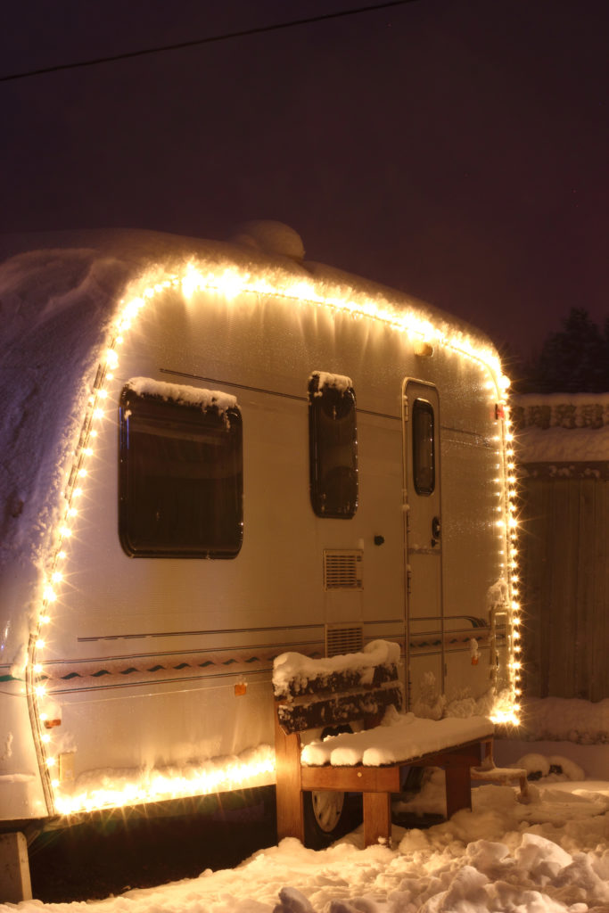 A Utah RV Dealership shows how RVers decorate for the holidays.