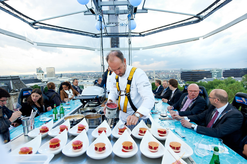 Dinner in the sky is a must on your RV trip ideas list - when it comes to the US