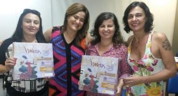 As Profas. Dras. Ailta Barros, Andrea Oliveira e Marlene Teixeira nos apoiaram nas partidas-testes do VIOLETAS.