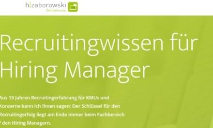 Weiterbildung: Recruitingwissen für Hiring Manager