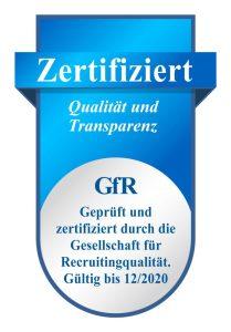 GfR Zertifikat