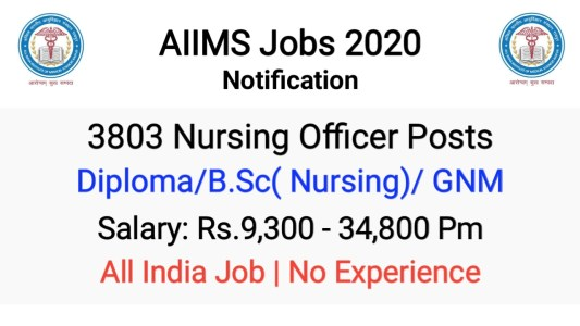 AIIMS Nursing Officer Recruitment 2020