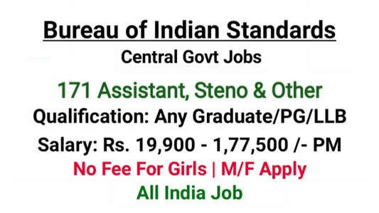 Bureau of Indian Standards Jobs 2020
