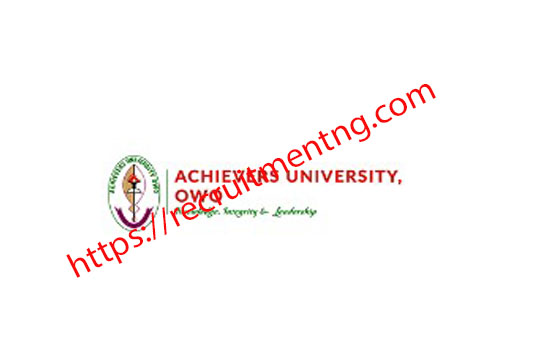 Achievers University School fees for 2018/19 Academic Session