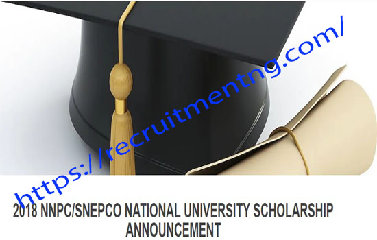 NATIONAL UNIVERSITY SCHOLARSHIP 2018 NNPC/SNEPCO