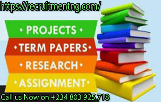 Free Project Materials & Research For All Department