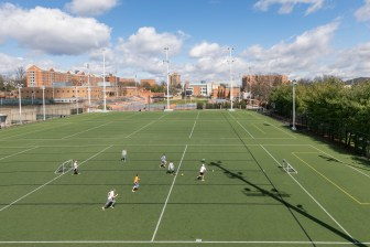 outdoor turf field