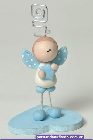 Recuerdos de Bautizo para niño migajon masa flexible azul estrella metal plateado