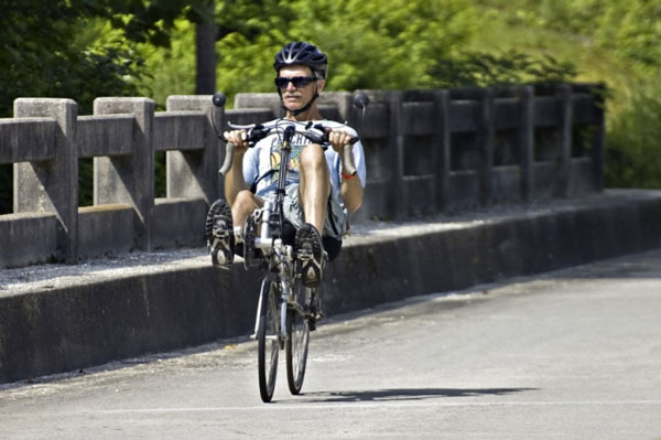 Recumbent-on-bridge