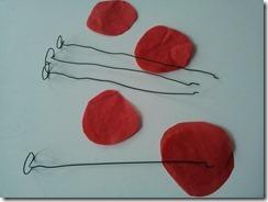 05 coquelicot fil de fer papier de soie DIY