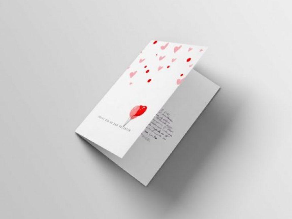 tarjeta de san valentin globos imprimible