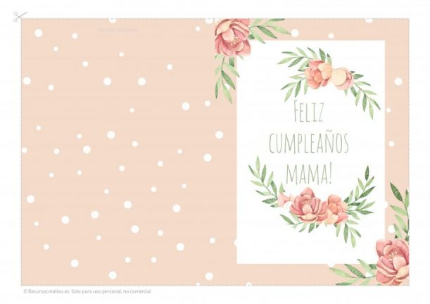 feliz cumpleaños mama tarjeta gratis