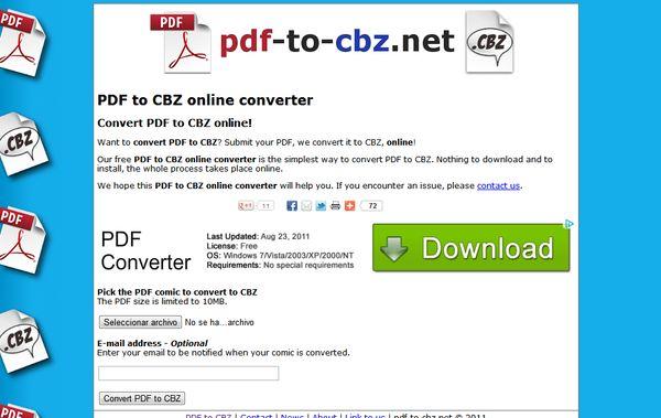 PDF to CBZ