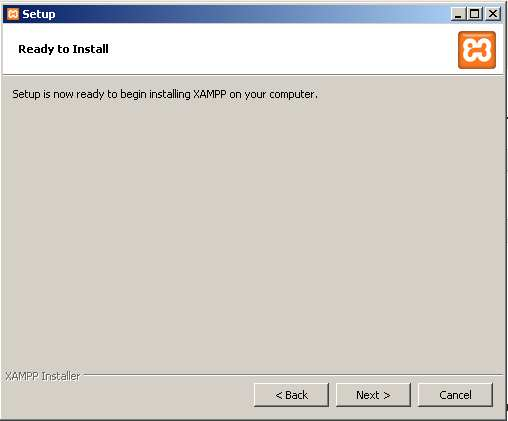 instalacion de Xampp- Inicio