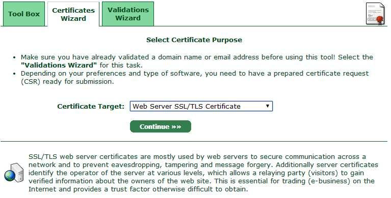 startssl peticion de certificado