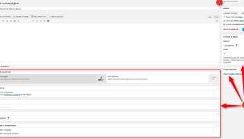Wordpress. Pantalla creacion de página