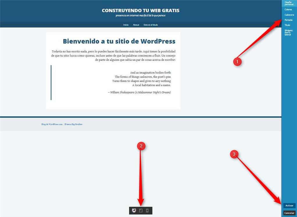 WordPress-Personalizando el Tema