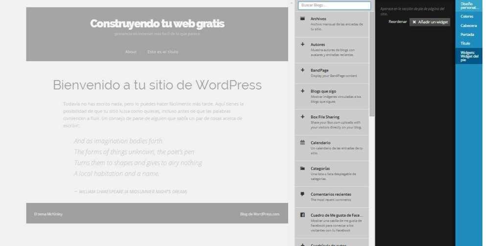 WordPress. Instalacion de Widgets