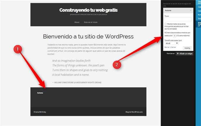 WordPress - Widgets Autores