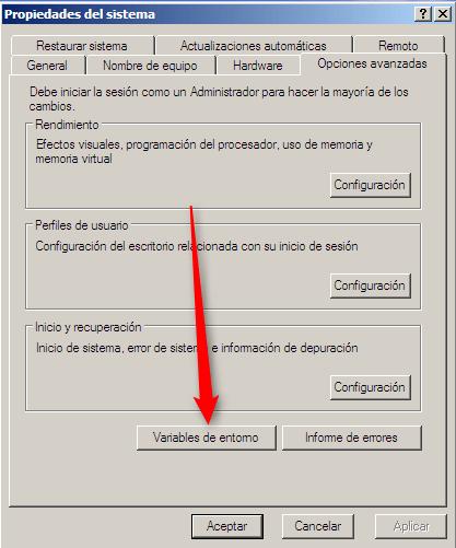 Opciones Avanzadas -windows