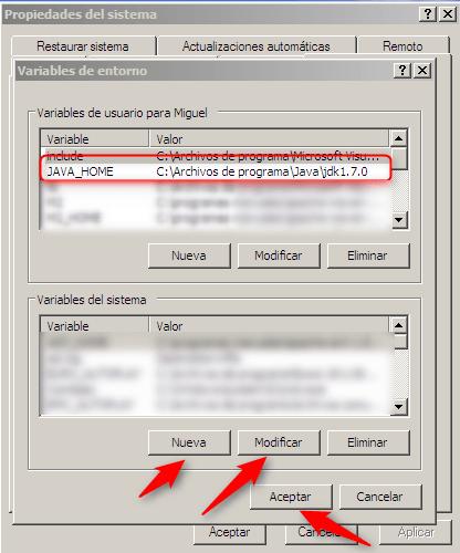 Windows-Variables de entorno