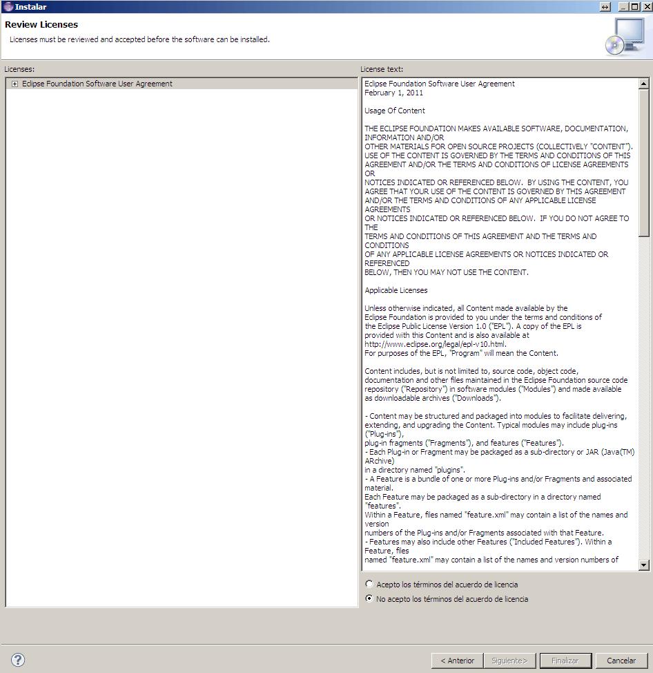 Eclipse instalando plugins