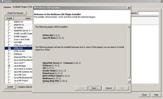 NetBeans.Relacion de plugins a instalar