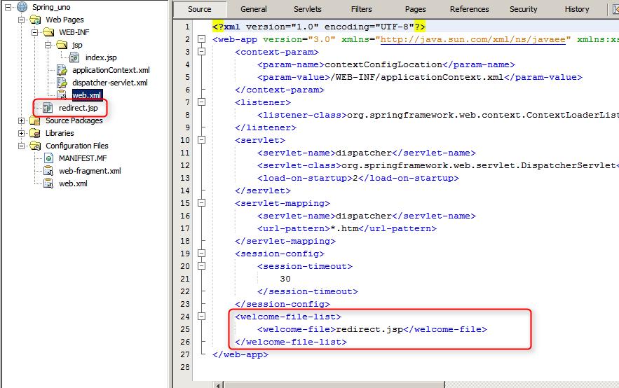 Spring fichero web.xml