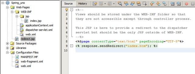 spring, fichero redirect.jsp