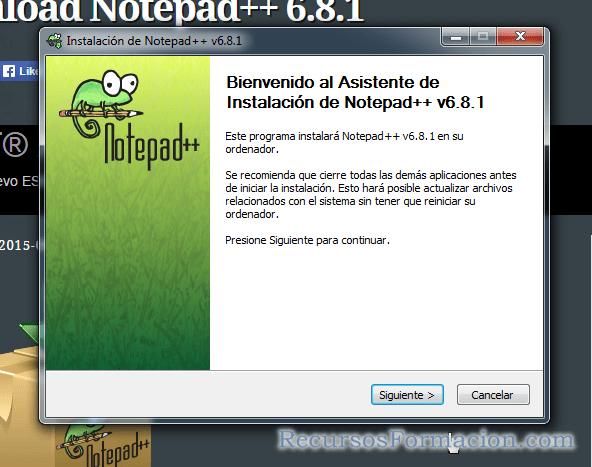 Instalacion Notepas++