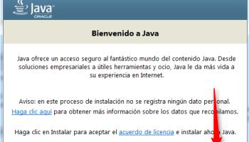 Instalar la maquina virtual de Java