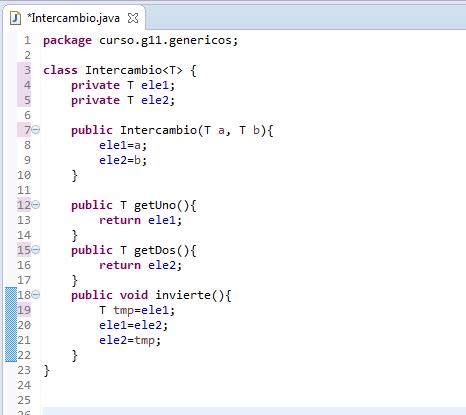 Java trabajando con genéricos