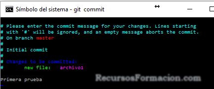 Git. liberando la version