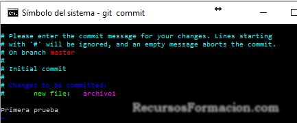 Git. liberando la version