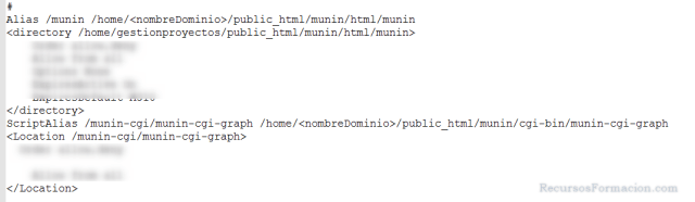 Modificando apache para munin bajo virtualmin