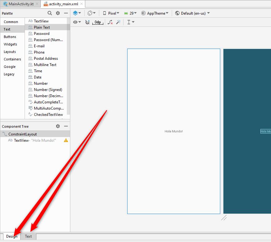 Seleccion modo texto o zml y grafico en Visual Studio