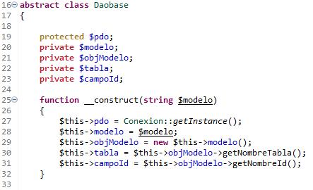 Dao Base PHP clase abtracta para acceso a BBDD con dao