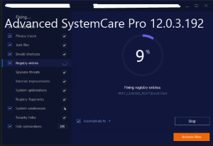 Advanced SystemCare Pro 12.0.3.192 Serial Key
