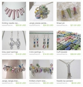knitting needle jewelry sassafras